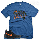 "New Royal ""SAUCY"" T Shirt for Nike Foamposite Pro Knicks Orange Blue Black image"