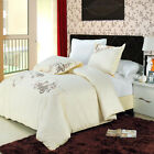 Luxury Sophia Cotton Embroidered Duvet Cover Set Silky Soft + Extra Pillow Shams image