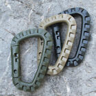 3Pcs Tactical Carabiner Keychain Clip D Shaped Carabiners Bag EDC Accessories