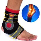 Copper Compression Ankle Support Brace Foot Sleeve - Plantar Swollen Pain Relief