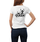 New Couples Halloween Party T-Shirts King Queen Unisex Tee Tops T-Shirt