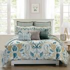 8 Piece Debora Teal/Gold Reversible Comforter Set image