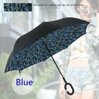 Camouflage Upside Down Double Layer Reverse Folding Inverted Umbrella C Handle