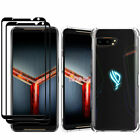 2X For Asus ROG Phone II ZS660KL Full Glue Tempered Glass Screen Protector Saver
