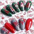 Red Snowflakes 3D Nail Art Stickers Winter Christmas Decals Decoration Tips