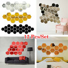 12 Pcs/set 3d Removable Mirror Decal Art Mural Wall Stickers Home Room Diy Decor