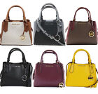Michael Kors Kimberly Small Satchel Crossbody Brown Merlot Vanilla Black Grey