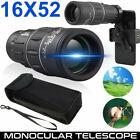 16x52 Phone Camera Zoom Lens Monocular Telescope HD Hiking Hunting Phone Holder