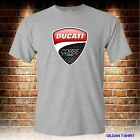 NEW DUCATI CORSE MEN'S GREY TSHIRT S TO 3XL USA SIZE