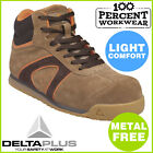 Metal Free Security Scanner Detector Work Safety Suede Trainers Boots Toe Cap