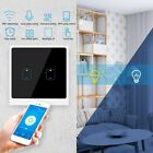 1/2/3/4-Gang Smart WiFi Touching Light Switch APP Voice Remote Control 90-250V
