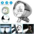 Classical Chrome Retro Bicycle Bike LED Light Headlight Cycling Front Head Lamp