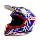 Airoh Wraap Broken Blue Red Gloss Off Road Enduro MX Motocross Helmet