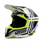 Airoh Wraap Broken Blue Gloss Off Road Enduro MX Motocross Helmet