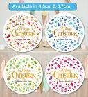 Merry Christmas Stickers Label Santa present MATT 24 & 35