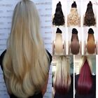 "24"" Clip in Half Head One Piece HAIR EXTENSION Like Human Brown Blonde Caramel."