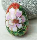 Chinese Cloisonne Enamel Beads LARGE Shape Egg Choice of Color 1 Bead