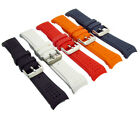 Replacement Silicone Watch Strap Curved Ends 5 Colours 22mm 24mm C098