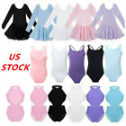 US Toddler Girls Ballet Dance Leotard Dress Gymnastics Kids Tutu Skirt Dancewear