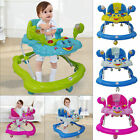 New Push Along Ride Baby Walker Musical Toy First Steps Bouncer Activity Melody