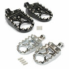 Black MX Style Foot Pegs Pedals Fit For Harley Dyna Iron 883 Fatboy Low Rider image