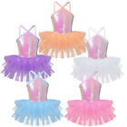 US Girls Ballet Dance Tutu Dress Kids Sequined Skating Leotard Skirt Dance wear