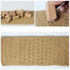 Hand Carved Wooden Stamp For DIY Printing Clay Pottery Printing Block Clay Tool image