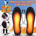 Rechargeable Heated Insoles Foot Warmer Heater USB Shoes Pad Boots Charging HOT