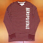 Aeropostale Mens Shirt Thermal Long Sleeve Embellished T Striped Red Shirt xl