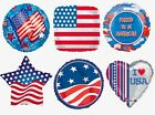 "18"" Patriotic *6 Designs* Stars Stripes USA America Foil Mylar Party Balloons"