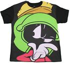 LOONEY TUNES MARVIN THE MARTIAN T-SHIRT BLACK RETRO CARTOON TEE MENS NEW image