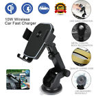 10W Wireless QI Fast Charger Car Mount Dash Holder Stand for Samsung & iPhone US