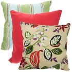Set of 2 Throw Pillows Indoor/Outdoor Couch Furniture Cushion Patio Bed Sofa UV