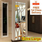 Extra Large Modern Acrylic Tree Mirror Wall Tile Sticker Art Decor Decal Home