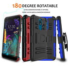 For LG Stylo 5/5x/5+ Plus Case Holster Stand Belt Clip Cover/HD Screen Protector