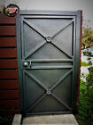 METAL SHEET SINGLE LEAF SECURITY GATE  #101 HEAVY DUTY GATE WITH FULL FRAME!