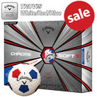 Callaway Chrome Soft X Truvis Golf Balls White/Red/Blue NEW! 2019 *REDUCED*