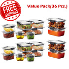 RUBBERMAID BRILLIANCE FOOD STORAGE CONTAINER SETS Airtight Stain Odor Resistant