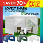 Garden Gazebo Party Tent Picnic Marquee Heavy Duty Canopy Shade 3 Colours & Size