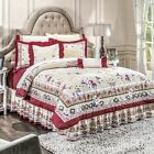 Persian Floral Burgundy Comforter Reversible Sheet Set New Home Persa Bedding image