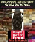 CLEARANCE Clip in Hair Half Head 1 Piece Curly Straight feel real Dark Red Pink