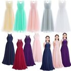 US Flower Girls Dress Birthday Wedding Bridesmaid Formal Party Long Maxi Dresses