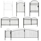 Lockable Metal Garden Gate Fence Panel With Arched Top Single Double Triple Door