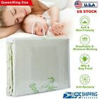 Bamboo Mattress Protector Waterproof Luxury Hypoallergenic Fitted Bed Cover Pad image