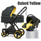 3 In 1 Luxury Baby Stroller Pushchair Foldable Buggy Infant Travel W/ Car Seat