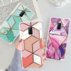 Marble Phone Case Geometric Gel Cover For Samsung Galaxy A7 A8 A6+ 2018 A5 2017