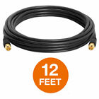 RG6 Coax Coaxial F type Cable HD Satellite Cord TV Antenna CL2 Black LOT