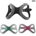 Rhinestone Adjustable Safe For Chihuahua Dog Harness Artificial Leather Outdoor