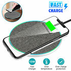 15W Fast Wireless Charger Charging Dock Pad Mat For Samsung S10 iPhone 8 XS 11