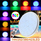 144/252/380/423LED RGB 7 Color Swimming Pool Light Underwater Pond Lamp + Remote
